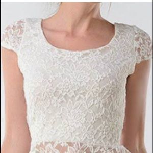 Poof Lace Peplum Top